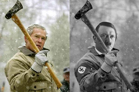 George W. Bush - Hitler - Marketing Político en la Red