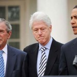 Barack Obama, George Bush, Bill Clinton