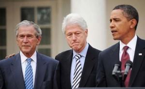 Barack Obama, George Bush, Bill Clinton