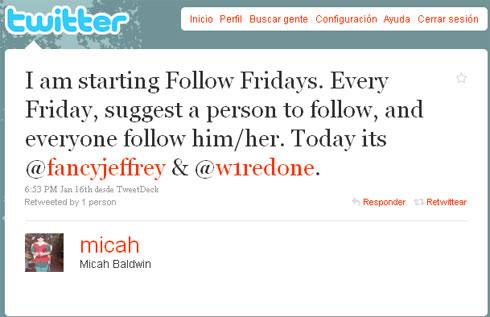 Follow Friday #FF Twitter
