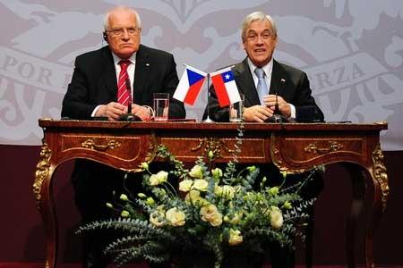 Václav Klaus, Sebastian Piñera - Marketing Político en la Red