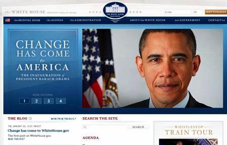 Obama - Casa Blanca Sitio Web