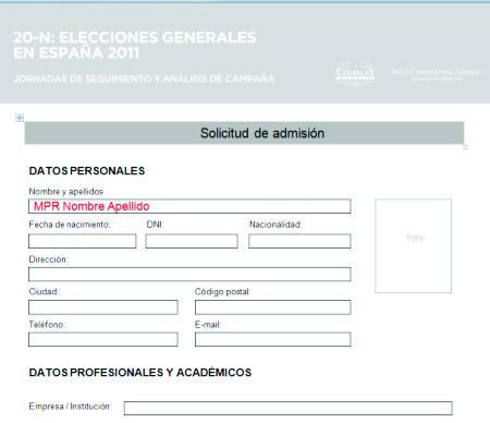 20-N Elecciones España 2011 Inascripción -  Marketing Político en la Red