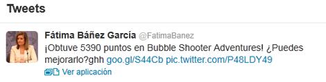 Fatima Bañez Twitter