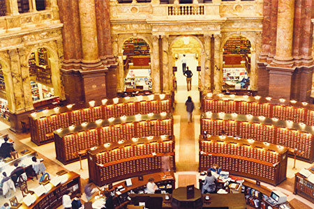 Libreria del Congreso en Washington, DC