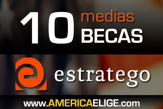 10 becas para al AMERICA ELIGE 2012 - Estratego
