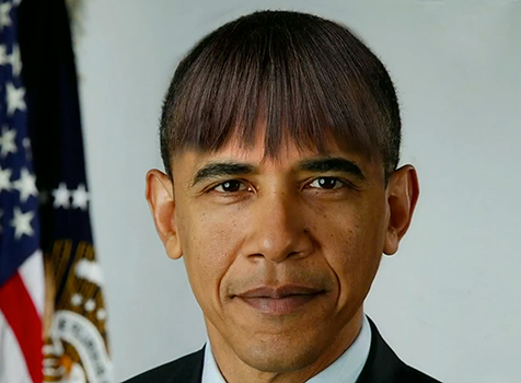 Barack Obama Flequillo