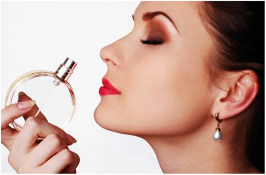 smelling perfume