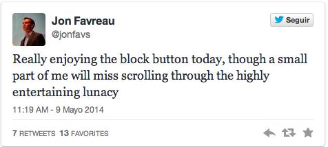 Jon Favreau Twitter