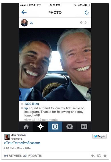 Obama and Biden selfie