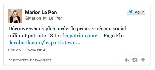 Marion Le Pen_Twitter