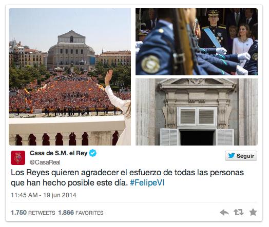 Twitter Casa de S.M. el Rey 3