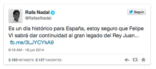 Twitter Rafael Nadal