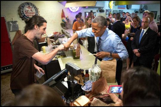 Obama visit restaurant