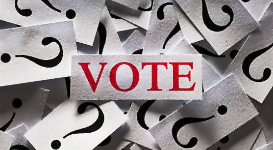 question mark vote