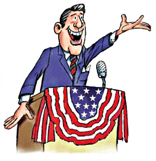 cartoon of a politician