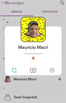 Macri snapchat