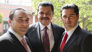 Roberto Borge, Francisco Olvera y Juan Carlos Limón